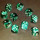 12mm Marble Spot Dice - Green